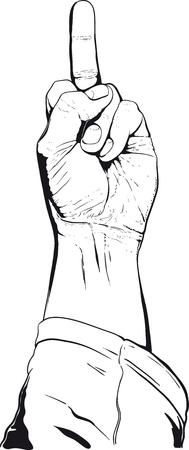 mano mostrando ningún gesto decente