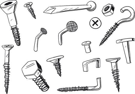 tornillos: un conjunto de elementos de fijación