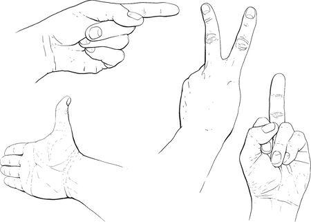desprecio: hand gestures