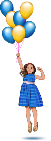 little one: little girl with balloons