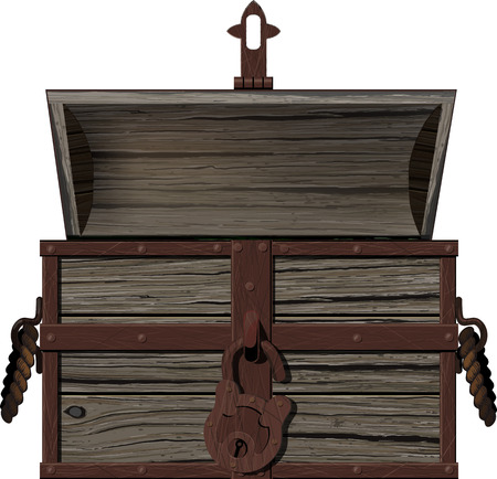 old empty open chest