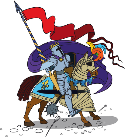 joust: Horse knight with a spear