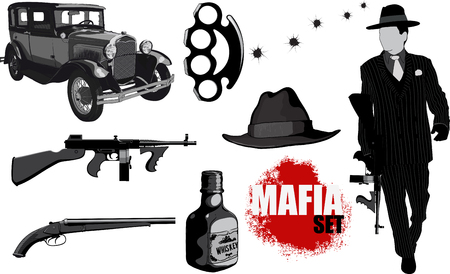 Small set of mobsters Stock Vector - 76803361