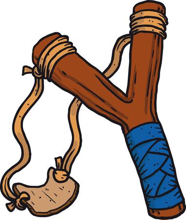 Child wooden slingshot