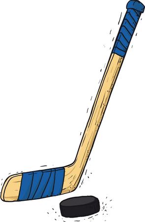 hockey stick and washer