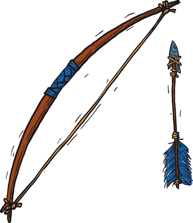 Child Wooden Longbow Illustration