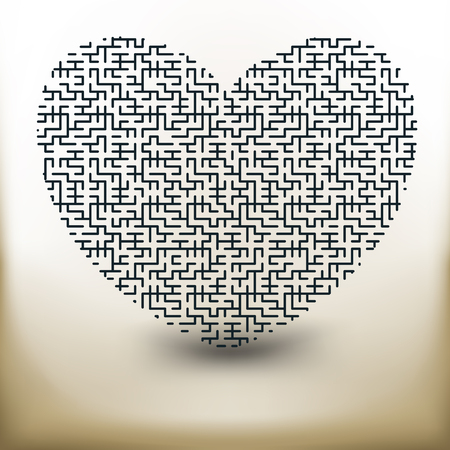 Simple symbolic image of the heart of the labyrinth Illustration
