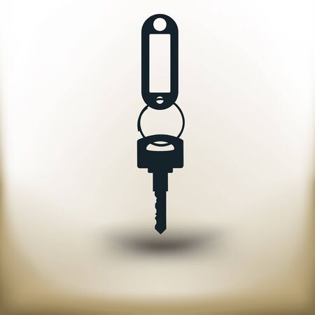 Simple symbolic image of a key with a key fob