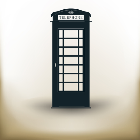 Simpel symbolisch beeld van een telefooncabine