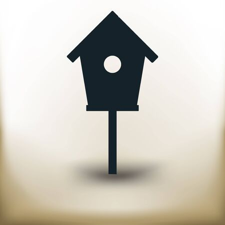 Simple symbolic image of an bird house Illustration