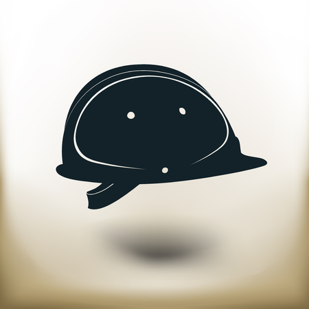 helm: Simple symbolic image of a construction helmet