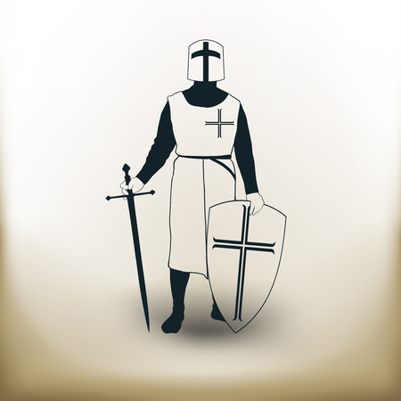 iron man: Simple symbolic image of the knight of the Crusader