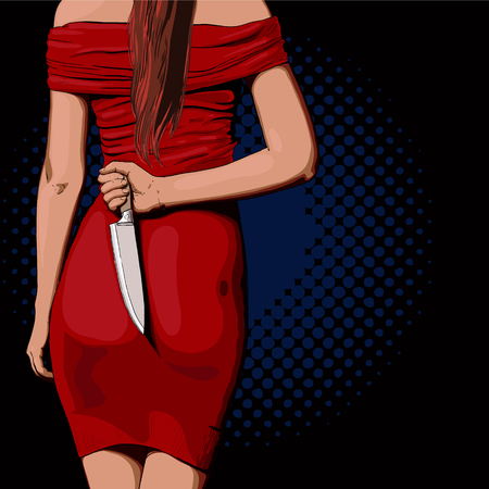Girl with a knife