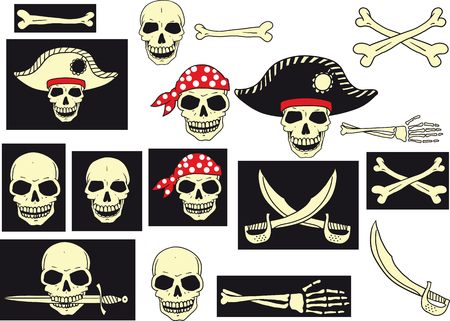 abstract backgrounds: pirates Skull Set