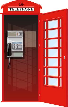phonebox: London Telephone Booth Illustration