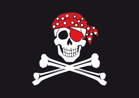 graphic relating to Pirate Flag Printable referred to as Jolly Roger Flag Royalty Totally free Cliparts, Vectors, And Inventory