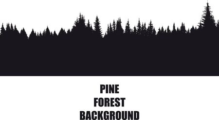 sosnowy las tło Ilustracje wektorowe
