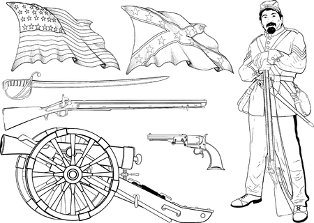 Cyvil War Set Illustration