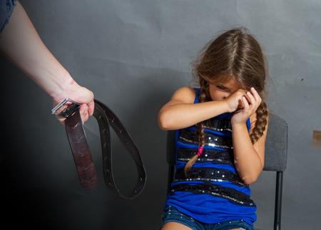 man beats the child