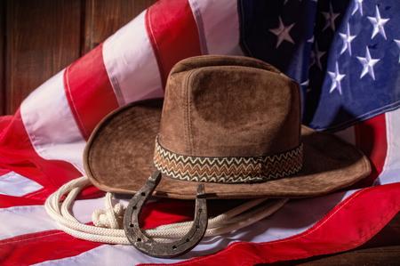 Flag Hat and Horseshoe Archivio Fotografico