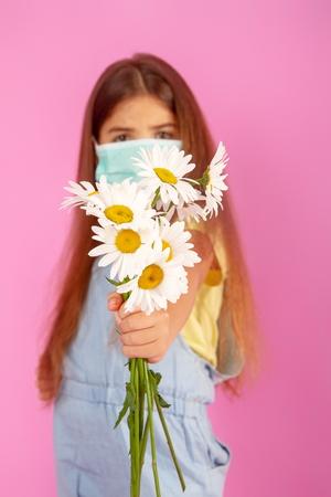 allergy flower mask