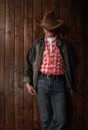 middle aged cowboy Foto de archivo