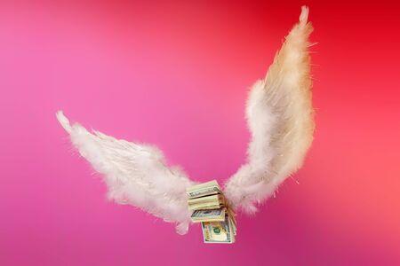 money wings help 写真素材