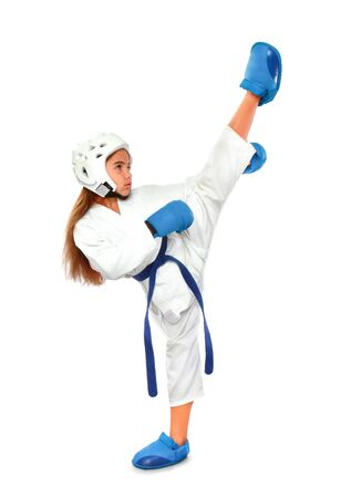 Karate Girl Uniform Imagens