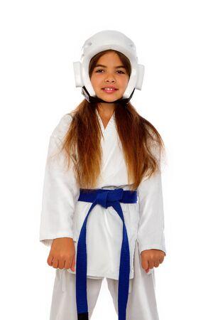 Karate Girl Uniform Фото со стока