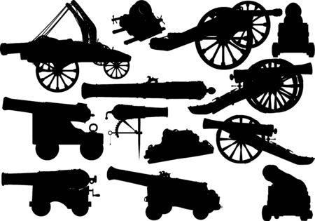 old artillery set