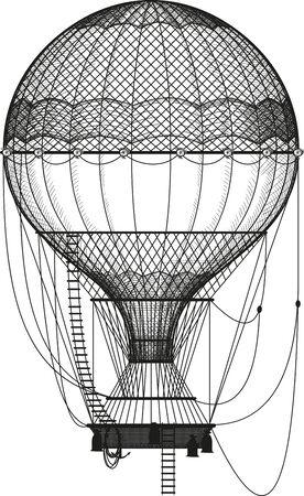 hot air balloon Vector Illustratie