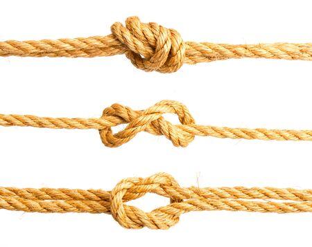 sea knot white Standard-Bild