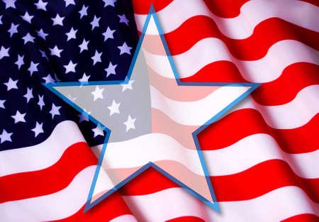us flag star