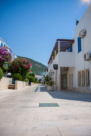 Budva - Montenegro, 31 July: The streets of the tourist town of Budva empty from quarantine in wonderful sunny weather.