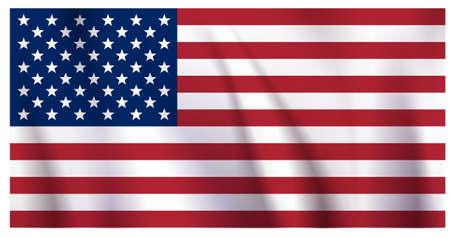 straight horizontal red-blue-white star-striped United States of America flag