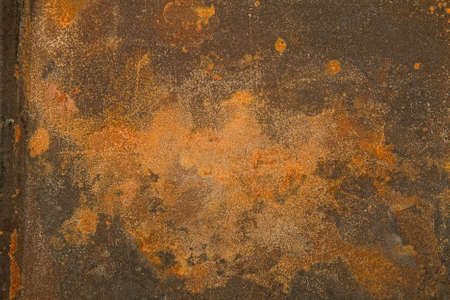 empty background from old very rusty metal surface