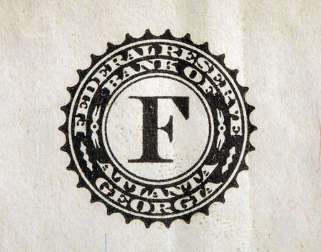 close-up image of a fragment of a US bank note