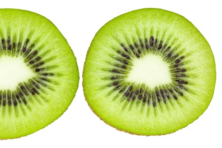 actinidia deliciosa: Kiwi in the cross section, juicy and freshly Stock Photo