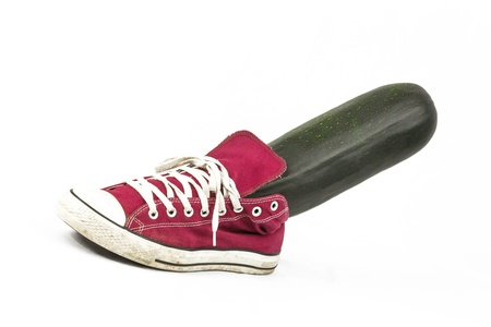 free plates: Zucchini in Sneaker Shoe
