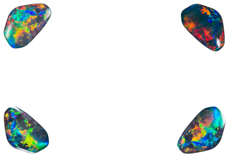 opal: Four opal in the corners