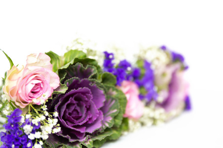 Flower decoration of roses, statice and baby s breath photo