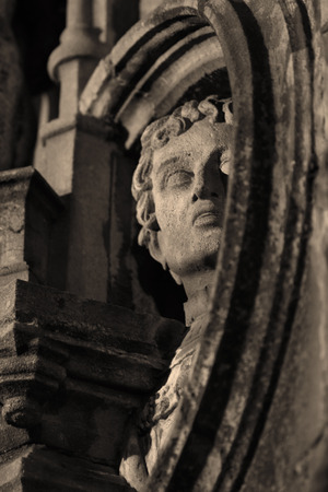 Close up of a statue at night photo
