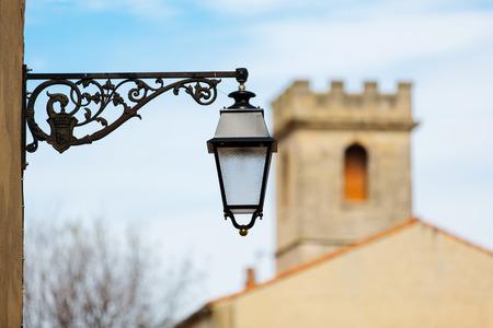 arles: A street lamp in Arles Frankreich