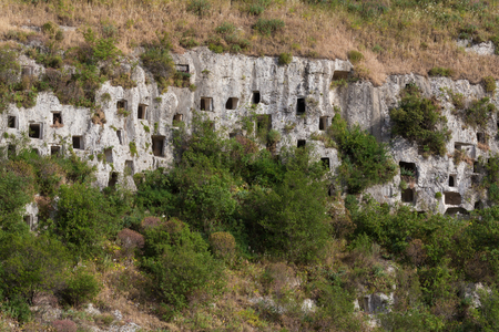 necropolis: The necropolis of Pantalica in Sicily