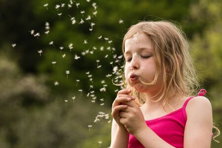 delightfully: young girl with dandelion