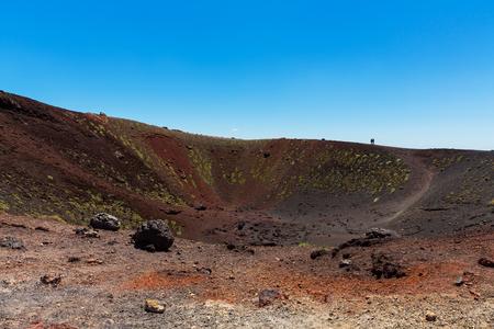 etna: A small caldera of Mount Etna Sicily