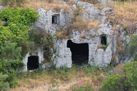 necropolis: The necropolis of Pantalica in Sicily Italy