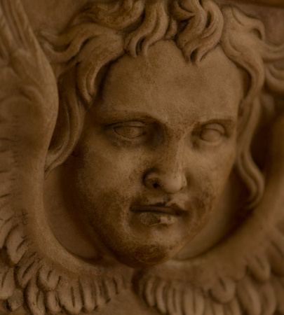 washbasins: Face of a marble angel