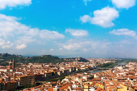 river arno: The River Arno in Florence Italy Stock Photo