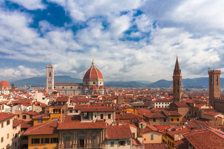 the tuscany: The Great Cathedral of Florence Italy